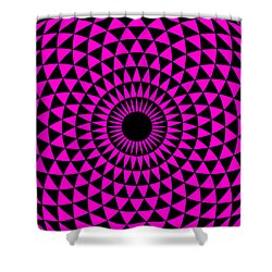 Shower Curtain featuring the digital art Magenta Balance by Lucia Sirna