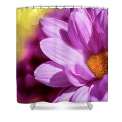 Magenta Floral Shower Curtain