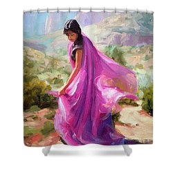 Magenta In Zion Shower Curtain
