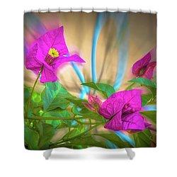 Magenta Magic Shower Curtain by Mark Dunton