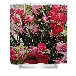 Magenta Orchid Garden Shower Curtain