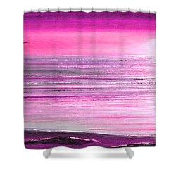 Magenta Panoramic Sunset Shower Curtain