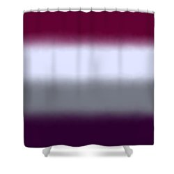 Magenta Purple - Sq Block Shower Curtain