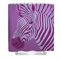Magenta Zebra Shower Curtain