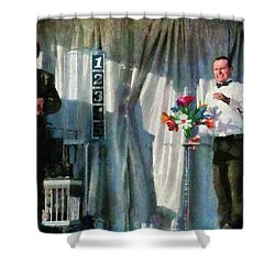 Magic - For My Next Trick  Shower Curtain by Mike Savad