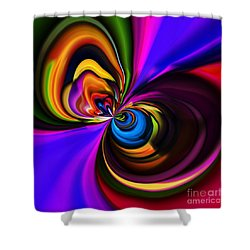 Magic Abstract Shower Curtain by Elaine Hunter