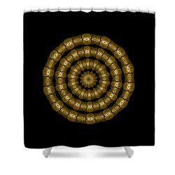 Magic Brass Rings Shower Curtain