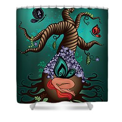 Magic Butterfly Tree Shower Curtain by Serena King