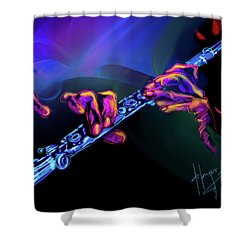 Magic Flute Shower Curtain