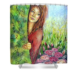 Magic Garden 021108 Shower Curtain by Selena Boron