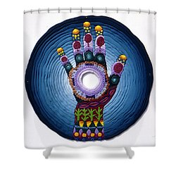 Magic Hand Shower Curtain by Arla Patch