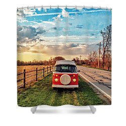 Magic Hour Magic Bus Shower Curtain