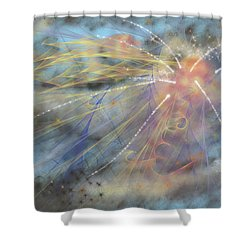 Magic In The Skies Shower Curtain by Angela A Stanton