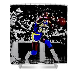 Magic Johnson Bounce Pass Shower Curtain