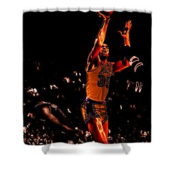 Magic Johnson Lean Back II Shower Curtain by Brian Reaves