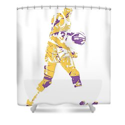 Magic Johnson Los Angeles Lakers Pixel Art 5 Shower Curtain