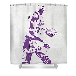 Magic Johnson Los Angeles Lakers Pixel Art Shower Curtain