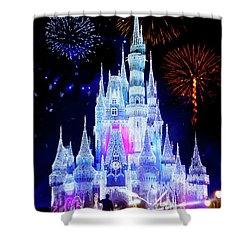 Magic Kingdom Fireworks Shower Curtain