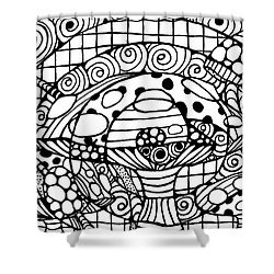 Magic Mushroom Tangle Shower Curtain