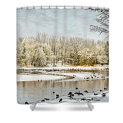 Magic Of Winter Shower Curtain