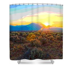 Magic Over Taos Shower Curtain