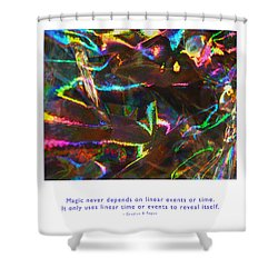 Shower Curtain featuring the photograph Magic Reveals Itself by Kristen Fox