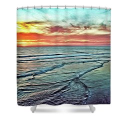 Magic Sunset Color Spectrum Shower Curtain