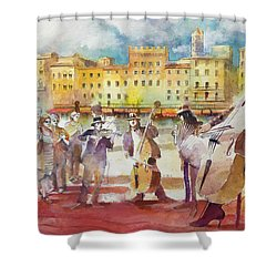Magica Siena Shower Curtain by Alessandro Andreuccetti