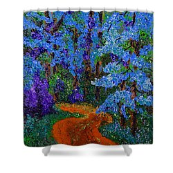 Magical Blue Forest Shower Curtain