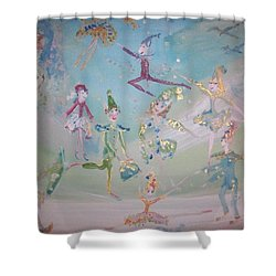 Shower Curtain featuring the painting Magical Elf Dance by Judith Desrosiers