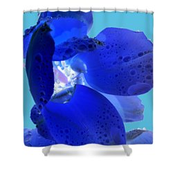 Magical Flower I - Blue Velvet Shower Curtain