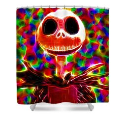 Magical Jack Skellington Shower Curtain by Paul Van Scott
