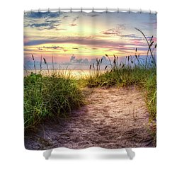 Shower Curtain featuring the photograph Magical Light In The Dunes by Debra and Dave Vanderlaan