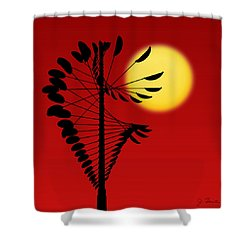Magical Mobile And Sun Shower Curtain