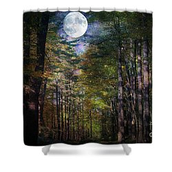 Magical Moonlit Forest Shower Curtain