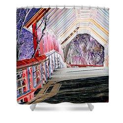 Magical Mystery Bridge Shower Curtain