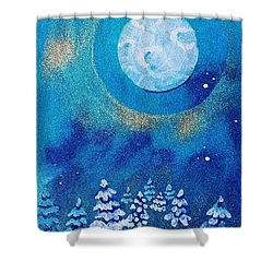 Magical Night At The Cabin Shower Curtain