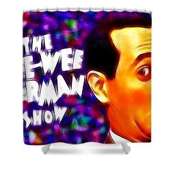 Magical Pee Wee Herman Shower Curtain by Paul Van Scott