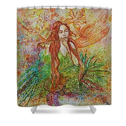 Magical Song Of Autumn Shower Curtain by Rita Fetisov