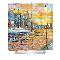 Magical Sunset Shower Curtain by Dmitry Spiros