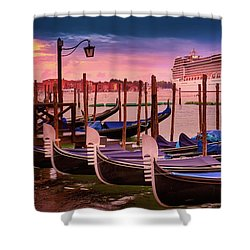 Magical Sunset In Venice Shower Curtain