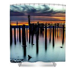 Magical Sunset Titlow Beach Tacoma Wa Shower Curtain