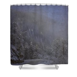Shower Curtain featuring the photograph Magical Winter Day by Ellen Heaverlo