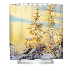 Shower Curtain featuring the photograph Magical Winter Landscape by Rose-Maries Pictures