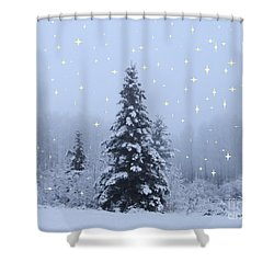 Magical Winterscape Shower Curtain