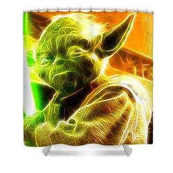 Magical Yoda Shower Curtain by Paul Van Scott
