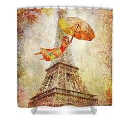 Shower Curtain featuring the digital art Magically Paris by Christina Lihani