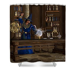 Magician Shower Curtain by Corey Ford