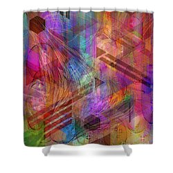 Magnetic Abstraction Shower Curtain by John Beck