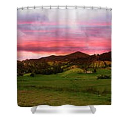 Magnificent Andes Valley Panorama Shower Curtain by Al Bourassa
